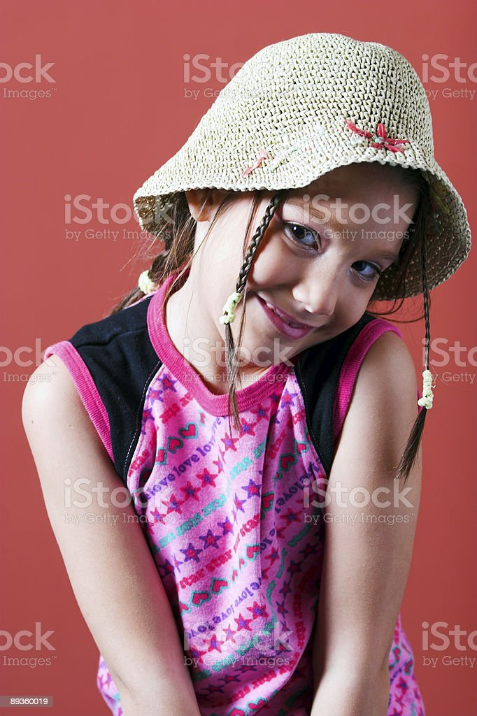 Shy girl stock photo