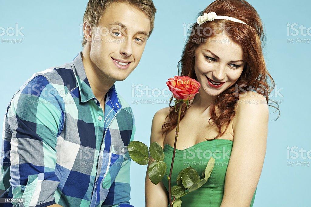 Shy girlfriend royalty-free stock photo