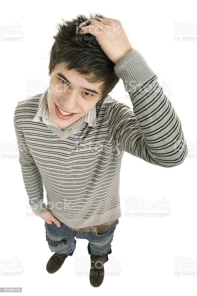 shy guy royalty-free stock photo