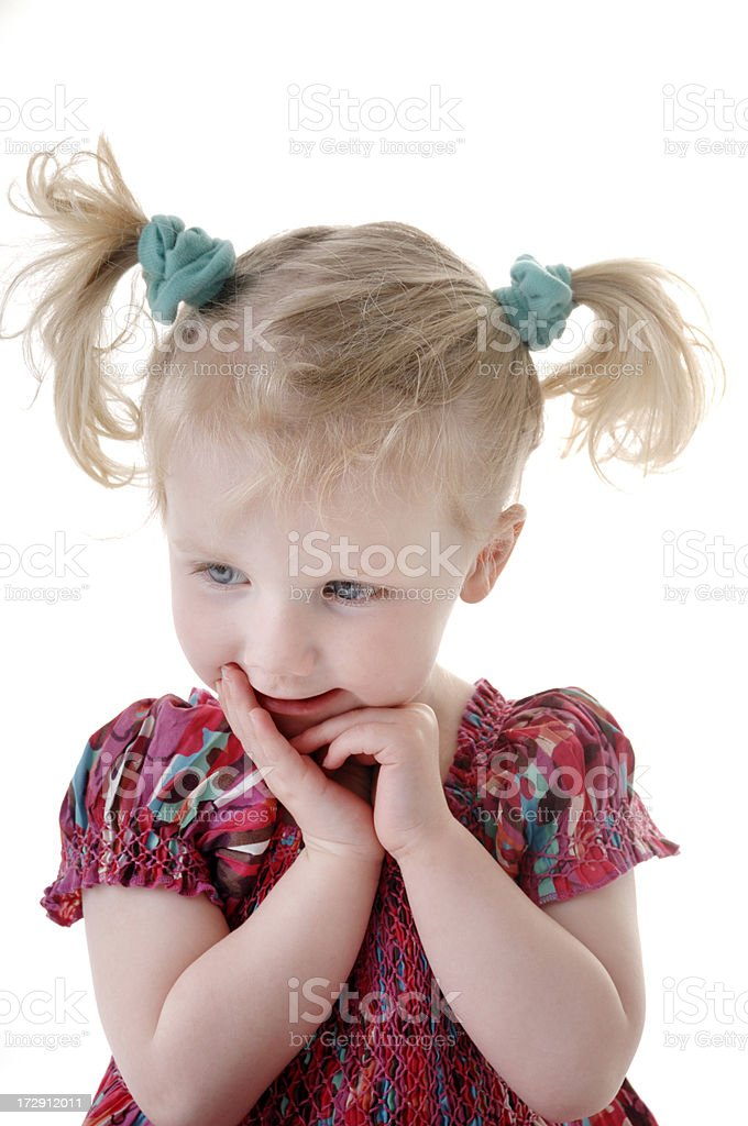 shy little girl royalty-free stock photo