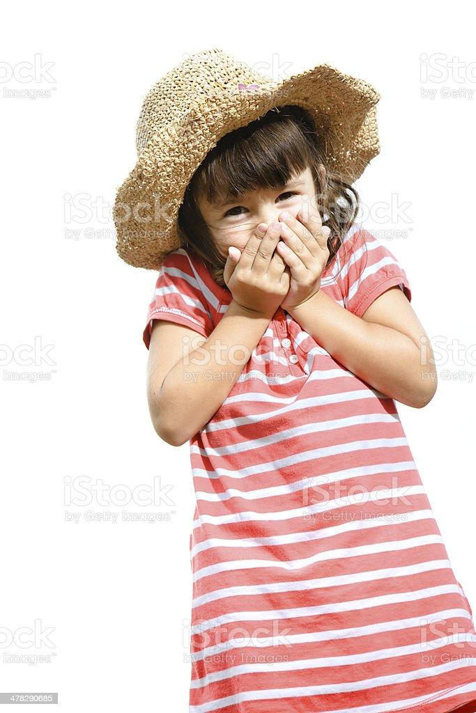 Shy little girl royalty-free stock photo