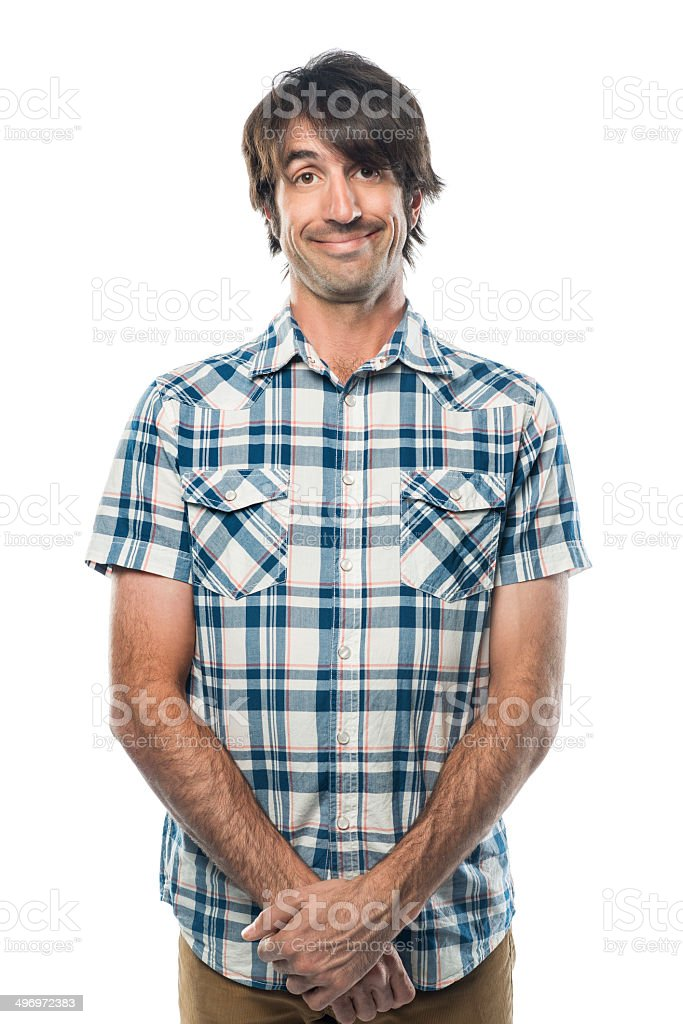 Shy Nerd stock photo