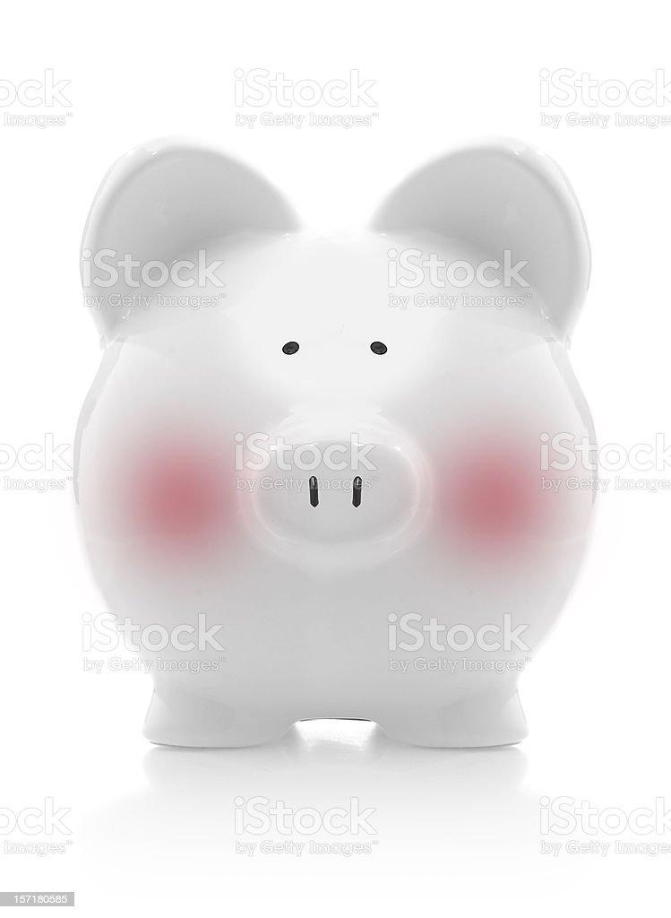 shy piggy bank royalty-free stock photo