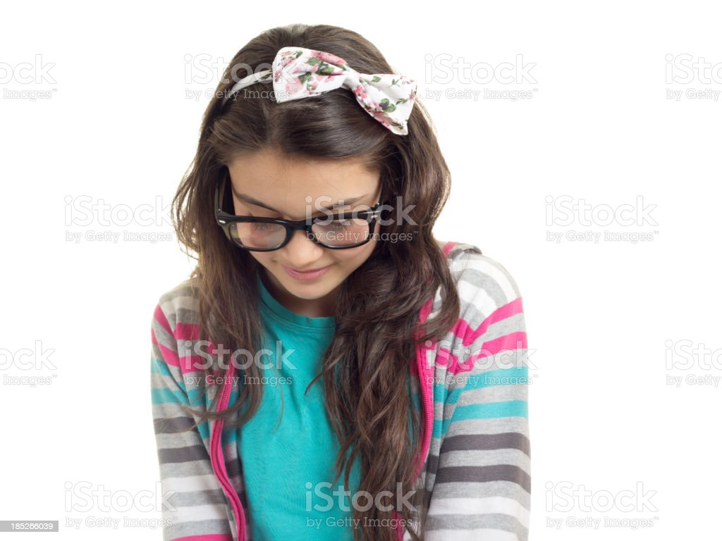 Shy Preteen Girl. royalty-free stock photo