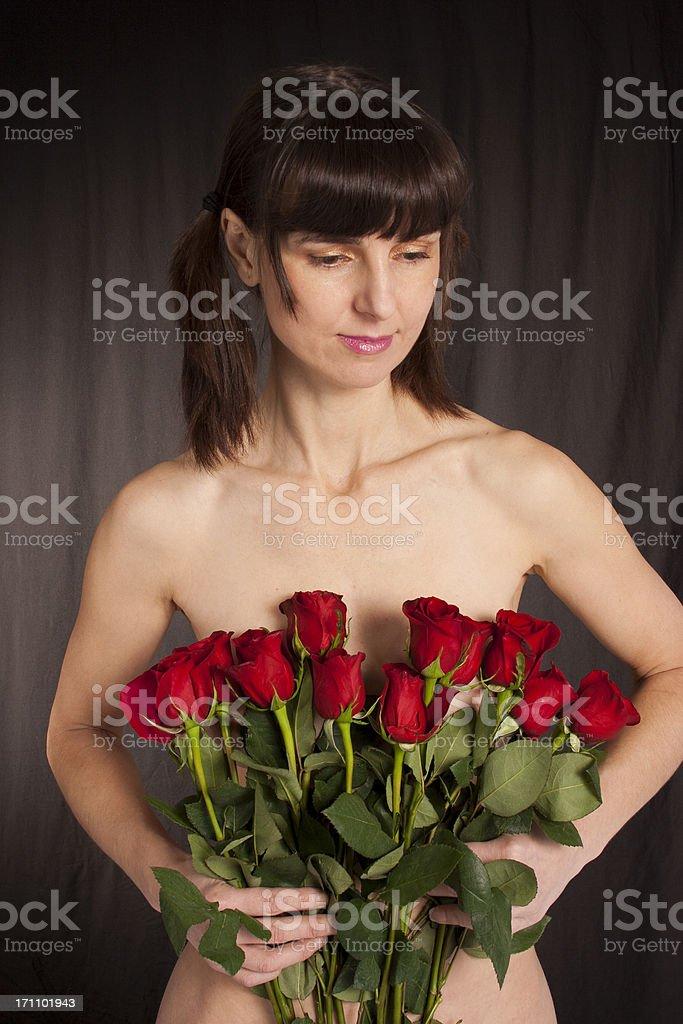 Shy Romance royalty-free stock photo