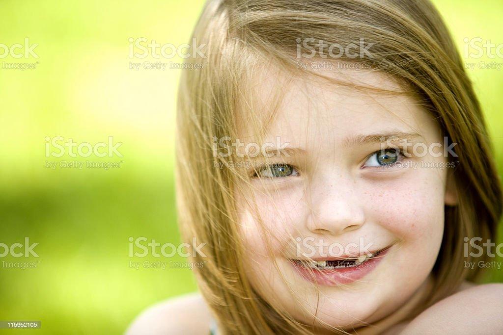 Shy Smile stock photo