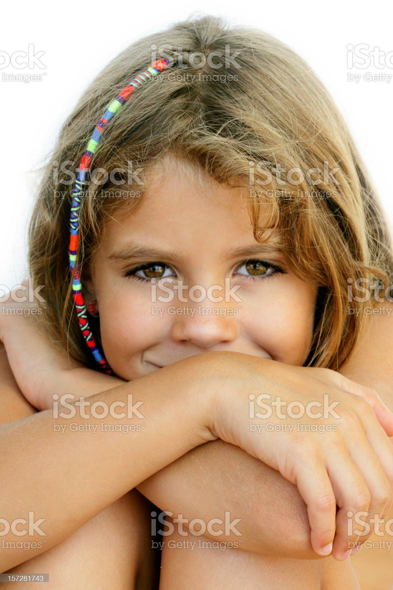 Shy smile royalty-free stock photo