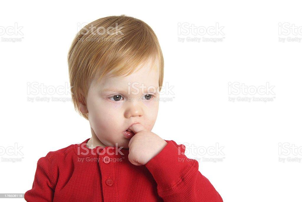 Shy Toddler royalty-free stock photo