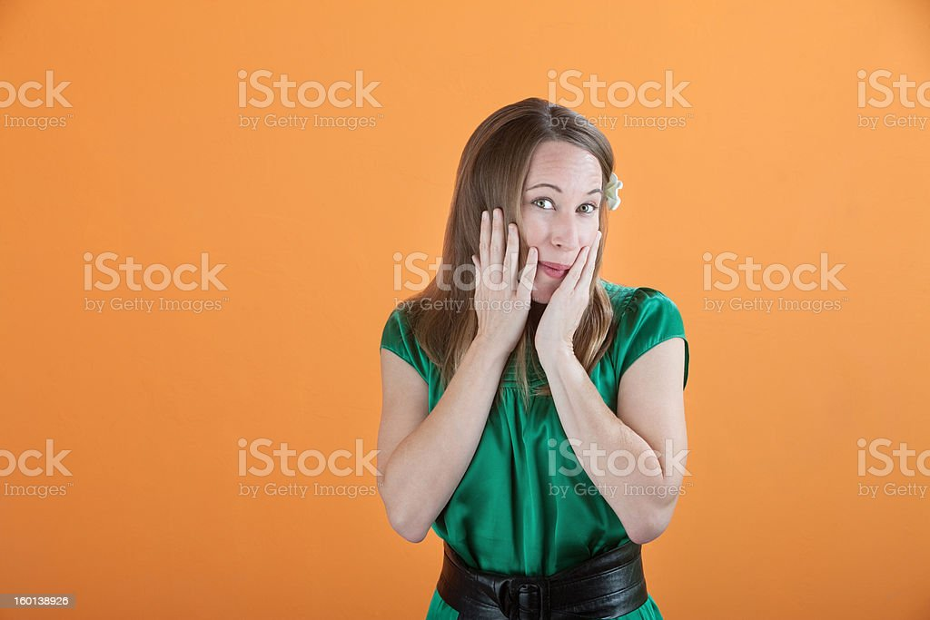 Shy Woman stock photo