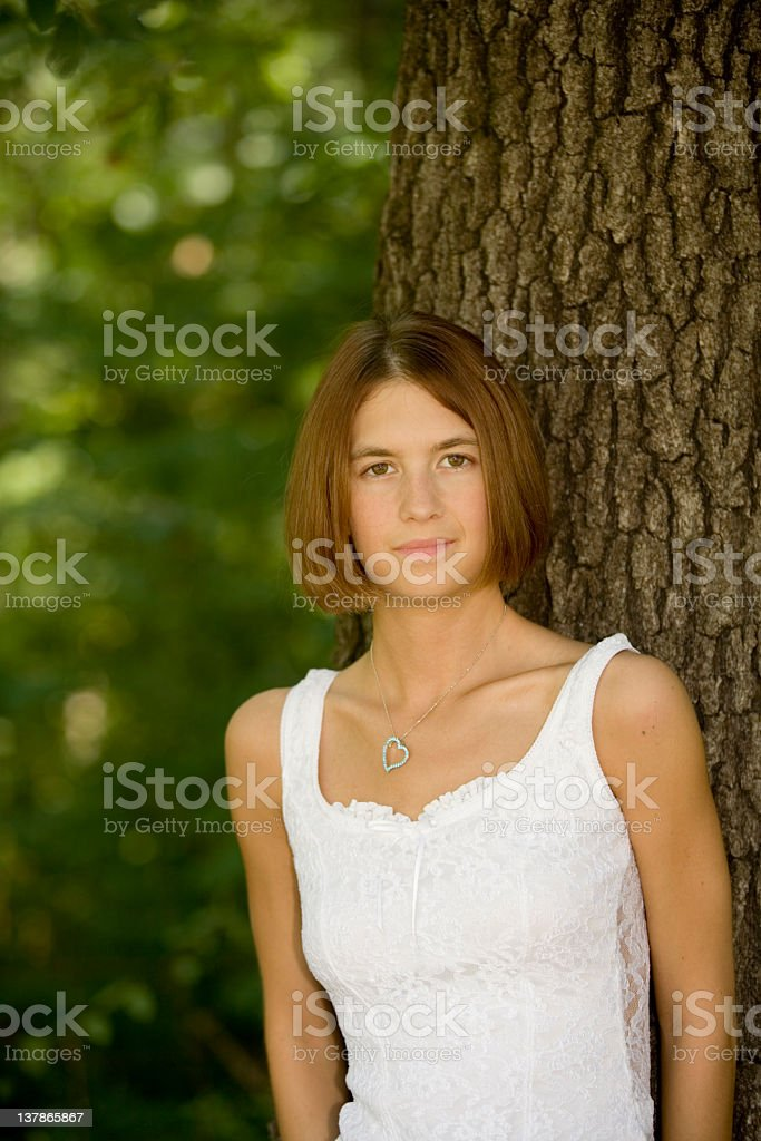 Shy Young Woman royalty-free stock photo