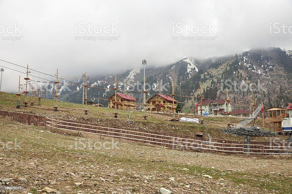 Shymbulak ski resort royalty-free stock photo