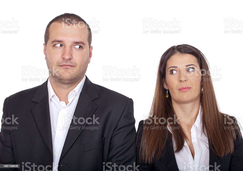 shyness on the first date stock photo