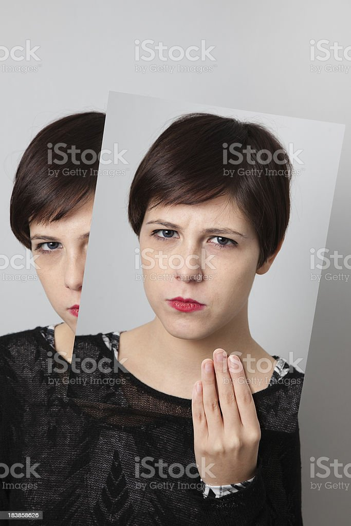Shyness stock photo