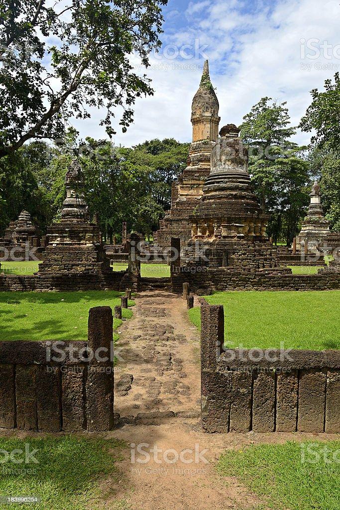 Si Satchanalai Chaliang Historical Park royalty-free stock photo