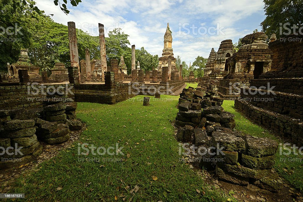 Si Satchanalai Chaliang Historical Park royalty-free stock photo