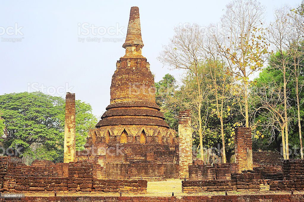 Si Satchanalai historical park stock photo