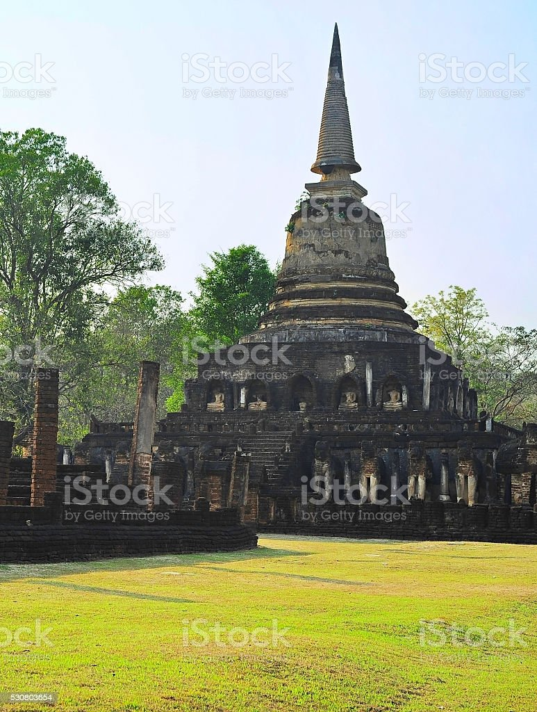 Si Satchanalai historical park, Thai stock photo