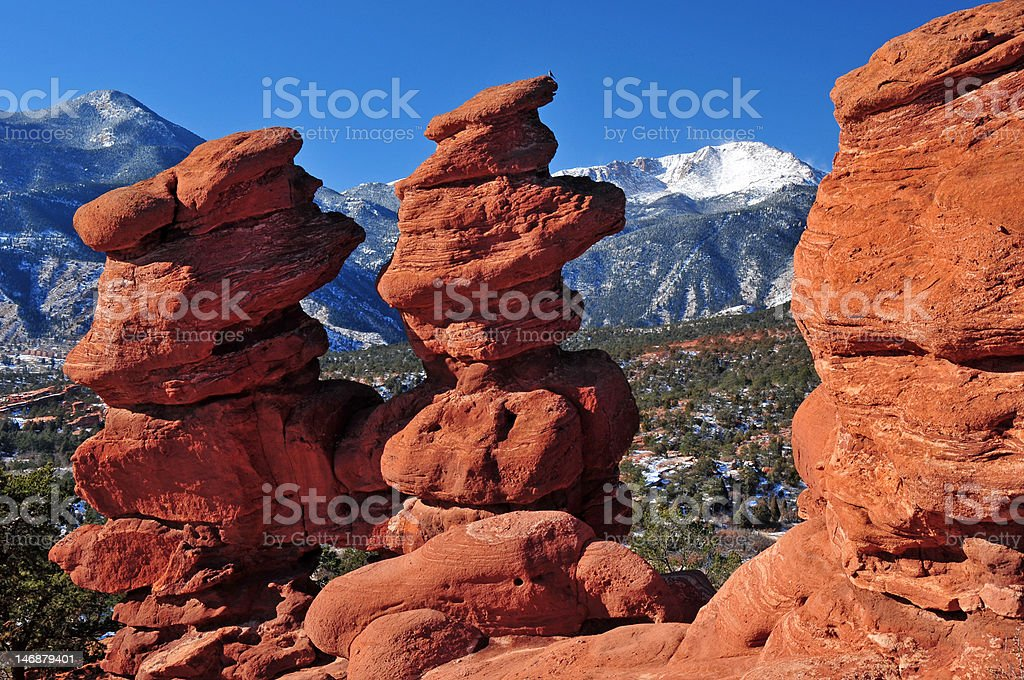 Siamese Twins at Garden of the Gods royalty-free stock photo