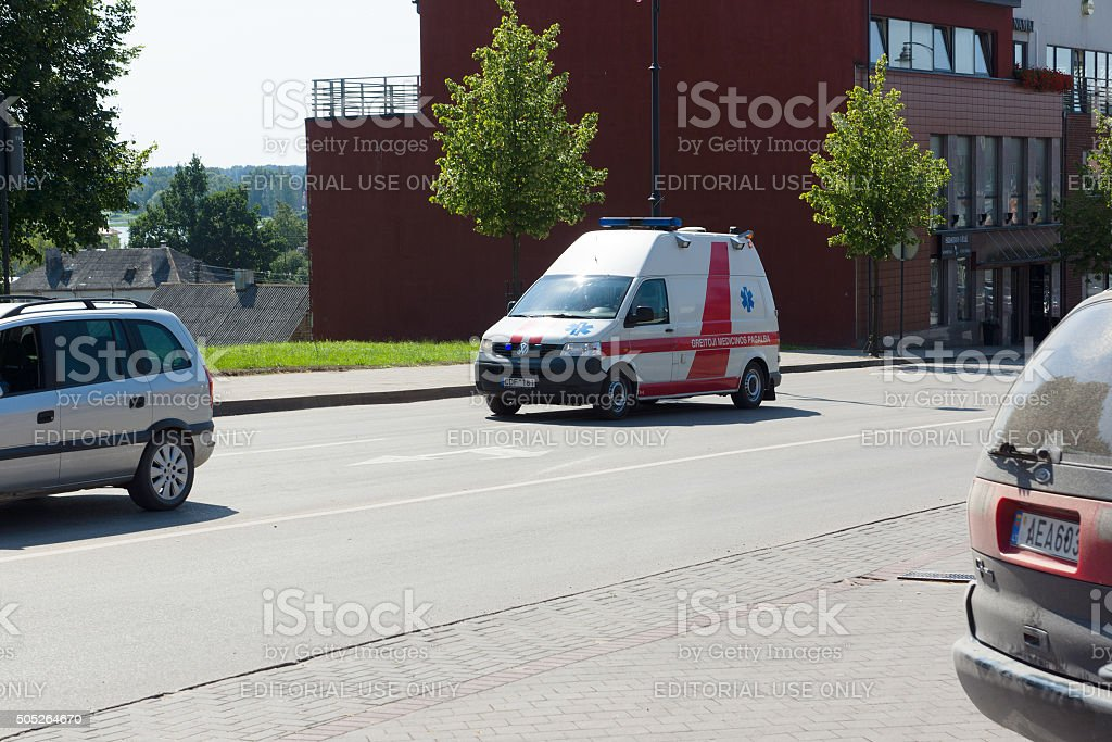 Siauliai city in the Lithuania stock photo