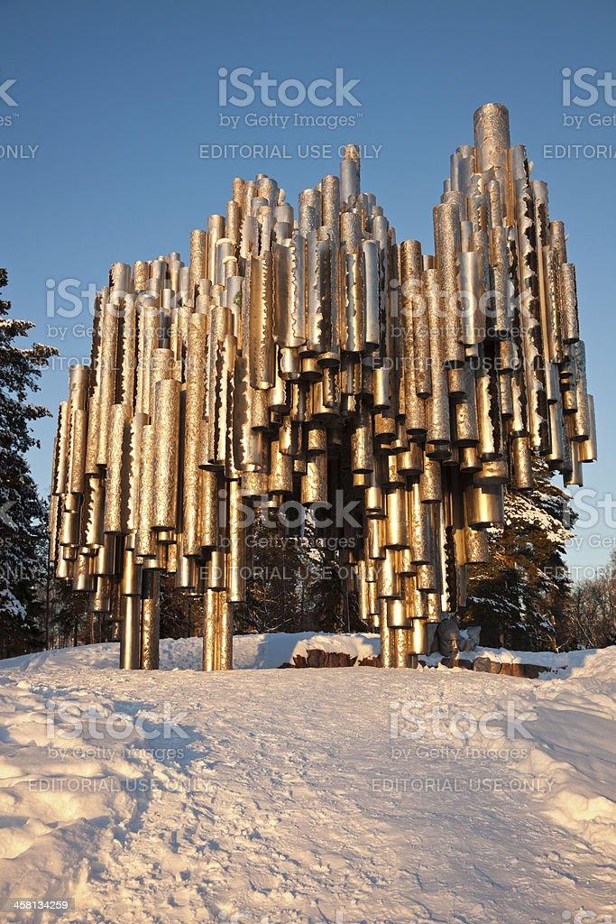 Sibelius Monument stock photo