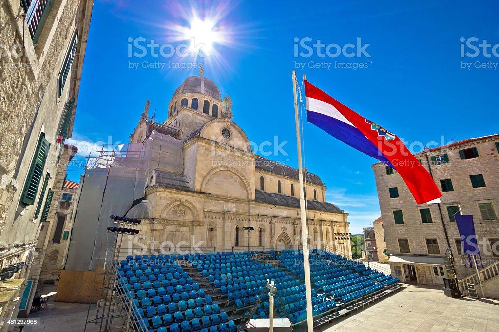 Sibenik cathedral UNESCO world heritage site stock photo