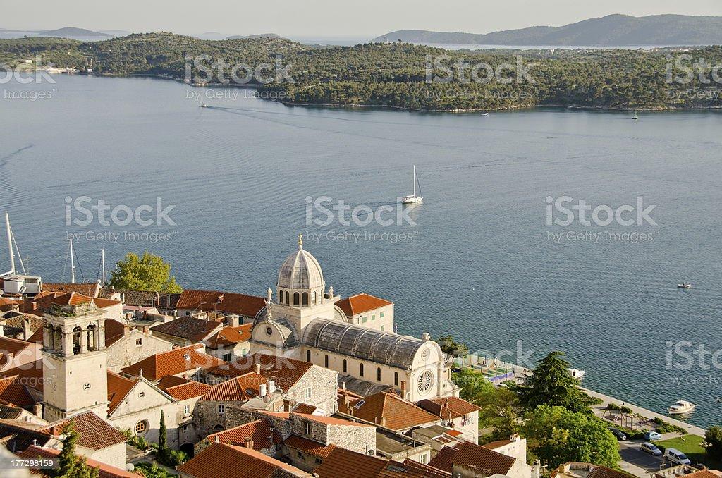 Sibenik, Croatia - Cathedral of St. James stock photo