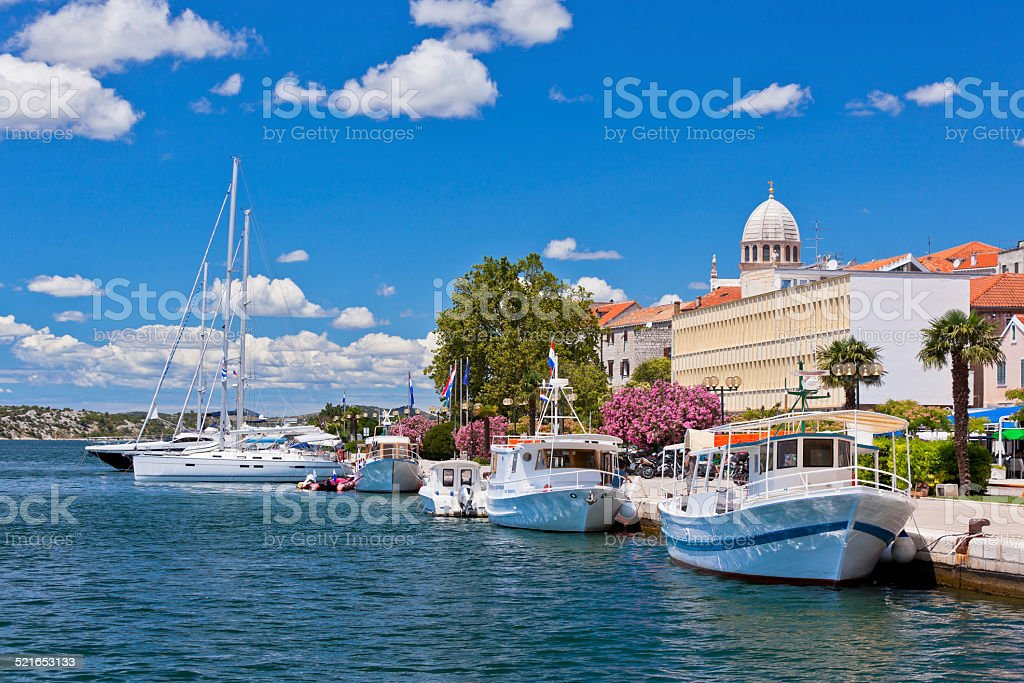 Sibenik, Croatia view stock photo