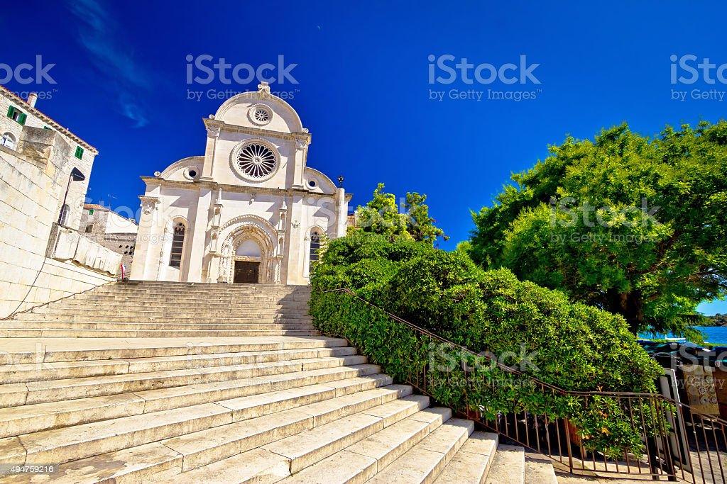 Sibenik st. James UNESCO cathedral stock photo