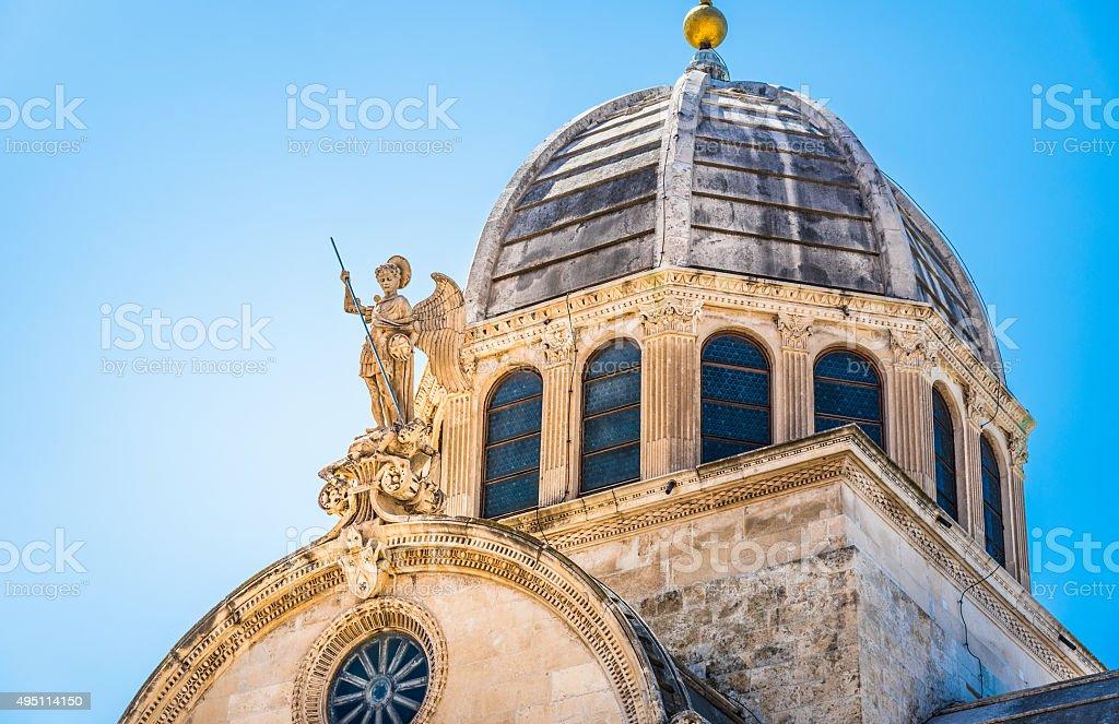 Sibenik, The Cathedral, Croatia. stock photo