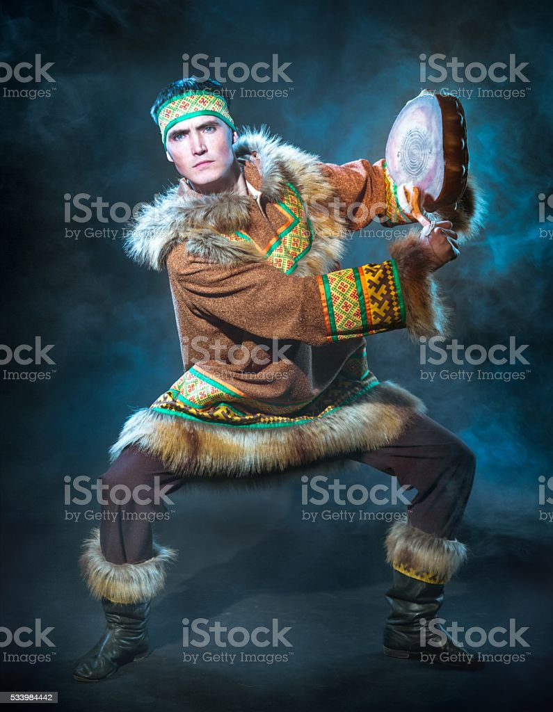 Siberian Ethnic Dance stock photo