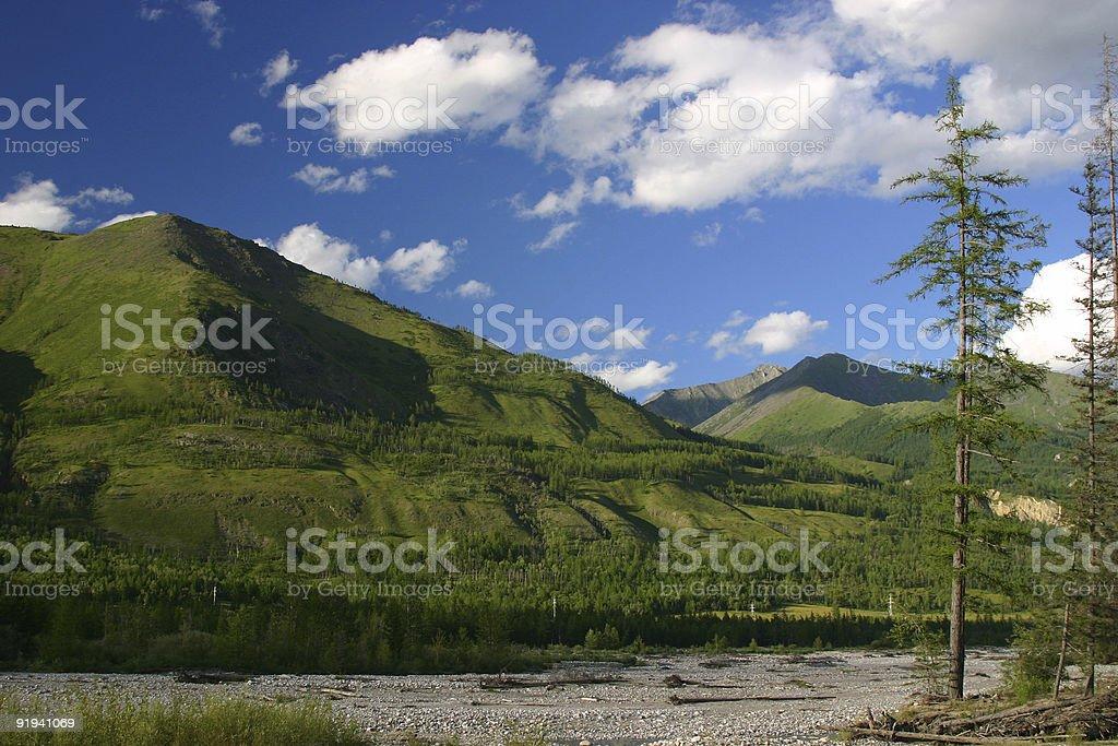 Siberian landscape royalty-free stock photo