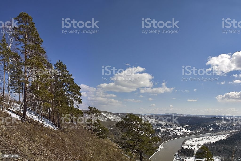 Siberian River royalty-free stock photo