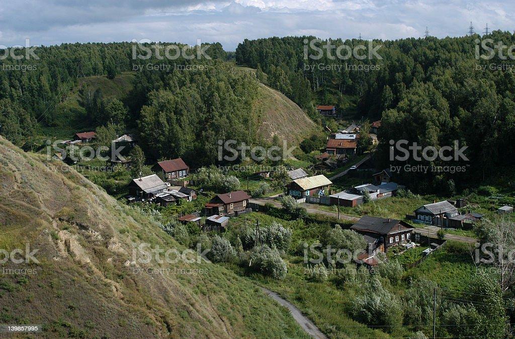 Siberian Village royalty-free stock photo