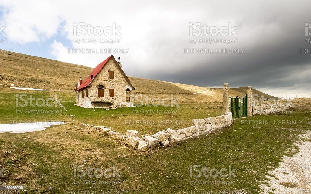 Sibillini mountains stock photo