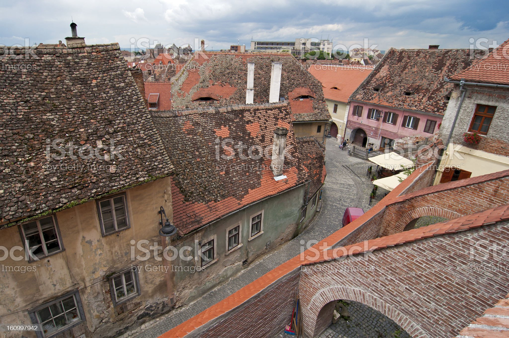 Sibiu old town royalty-free stock photo