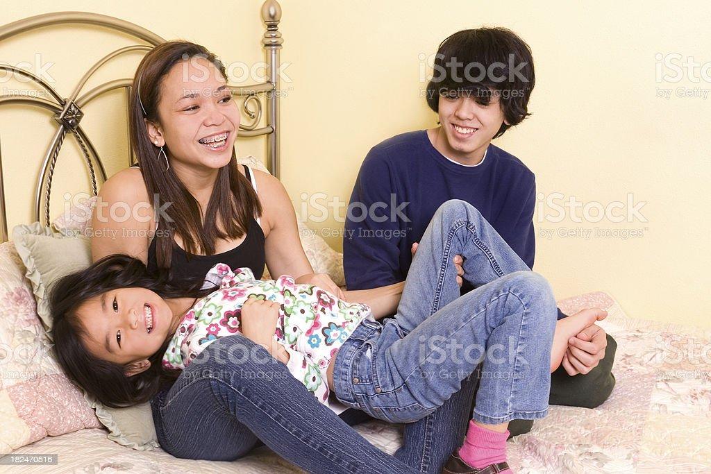 Sibling Fun stock photo