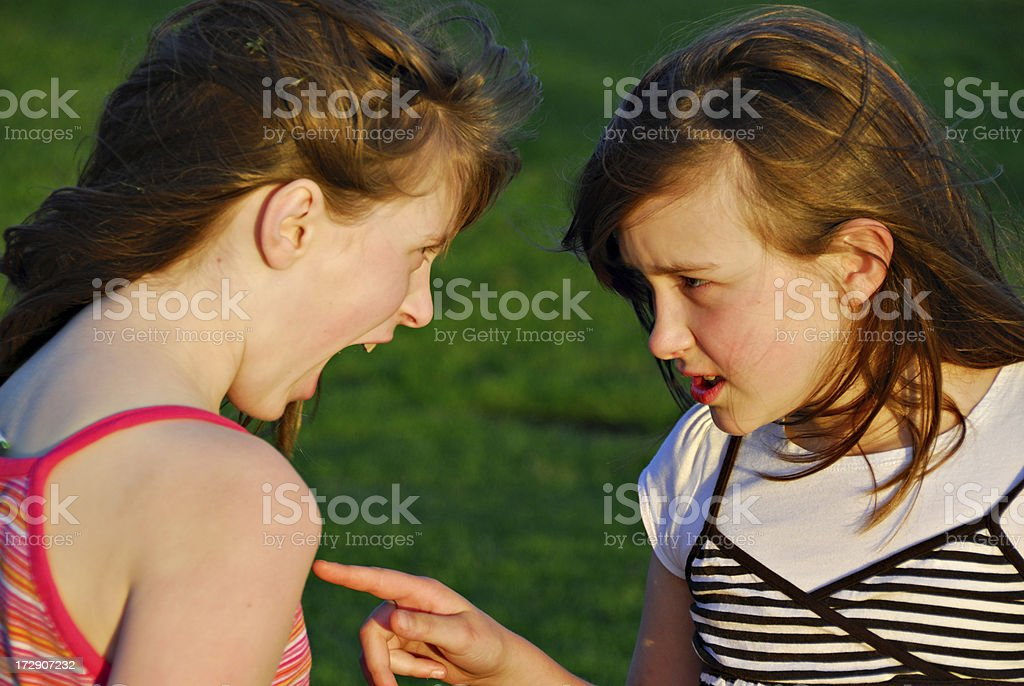 Sibling Rivalry - Accusation royalty-free stock photo