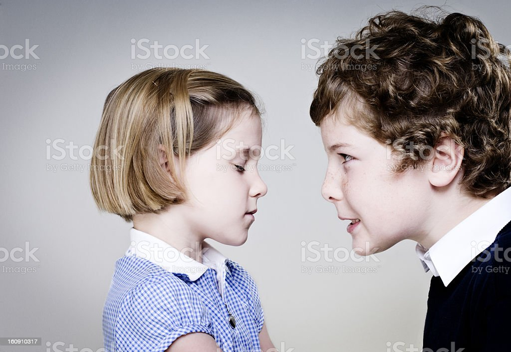 Sibling Rivalry royalty-free stock photo