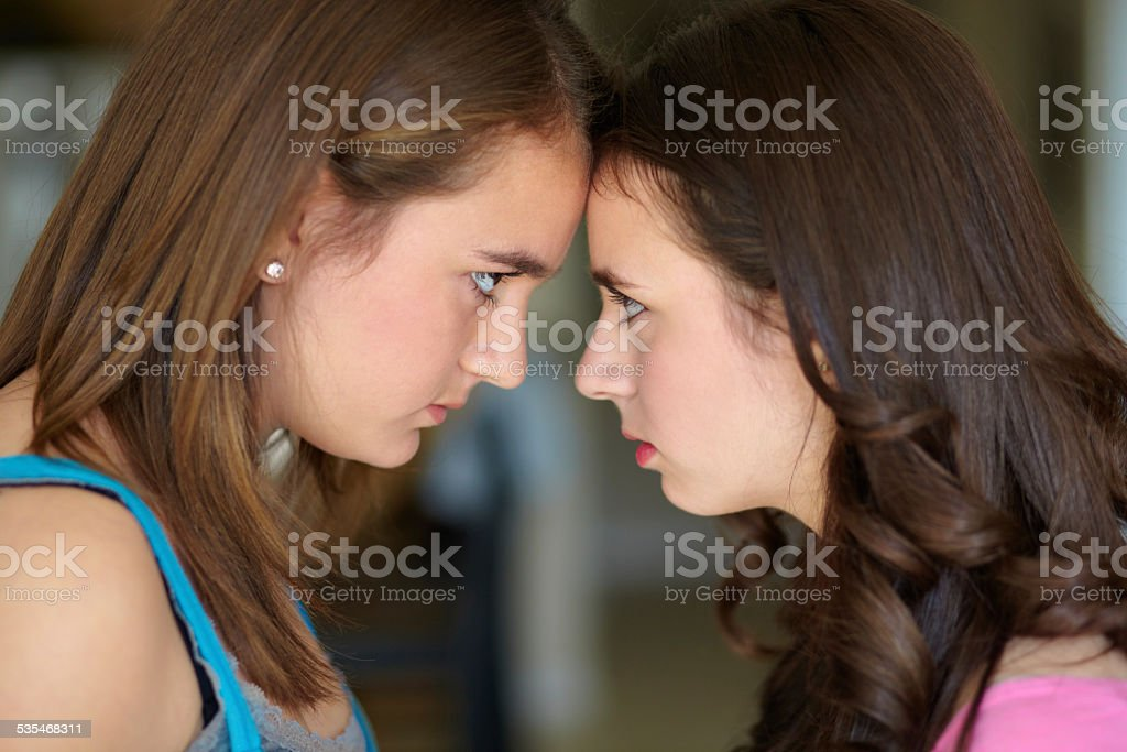 Sibling rivalry stock photo