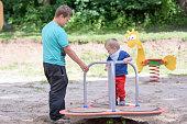 Siblings at playground