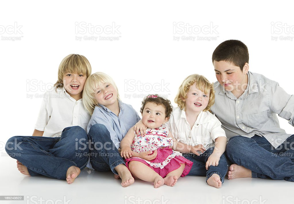 Sibling's love stock photo