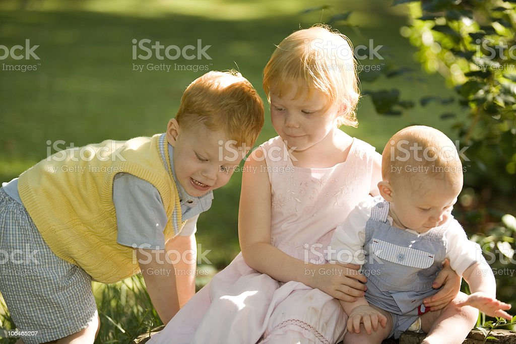 Siblings royalty-free stock photo