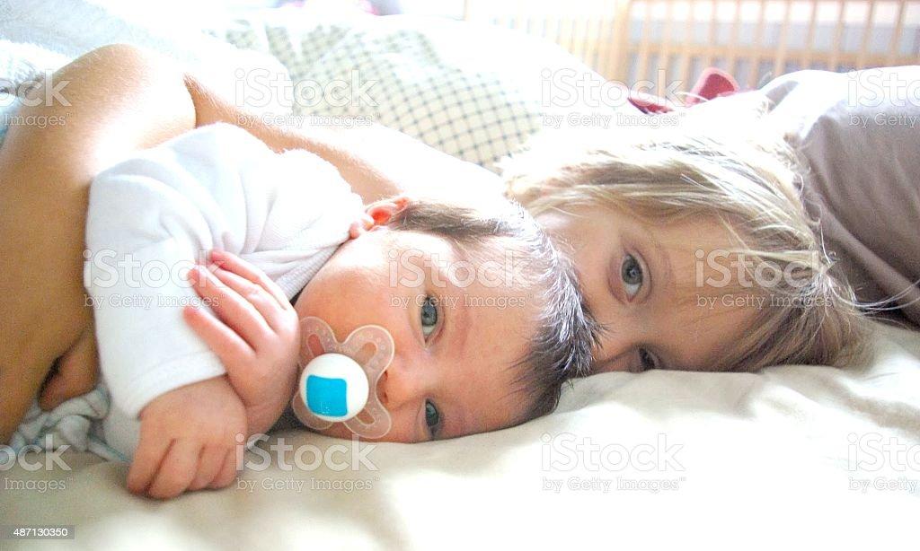 Siblings. stock photo