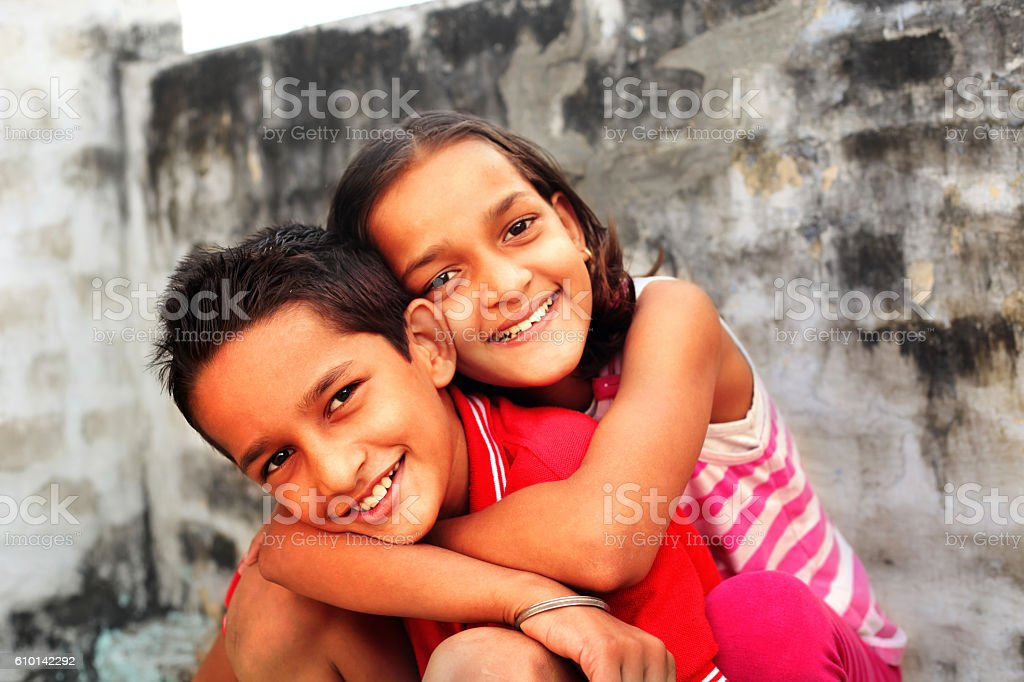 Siblings ! stock photo