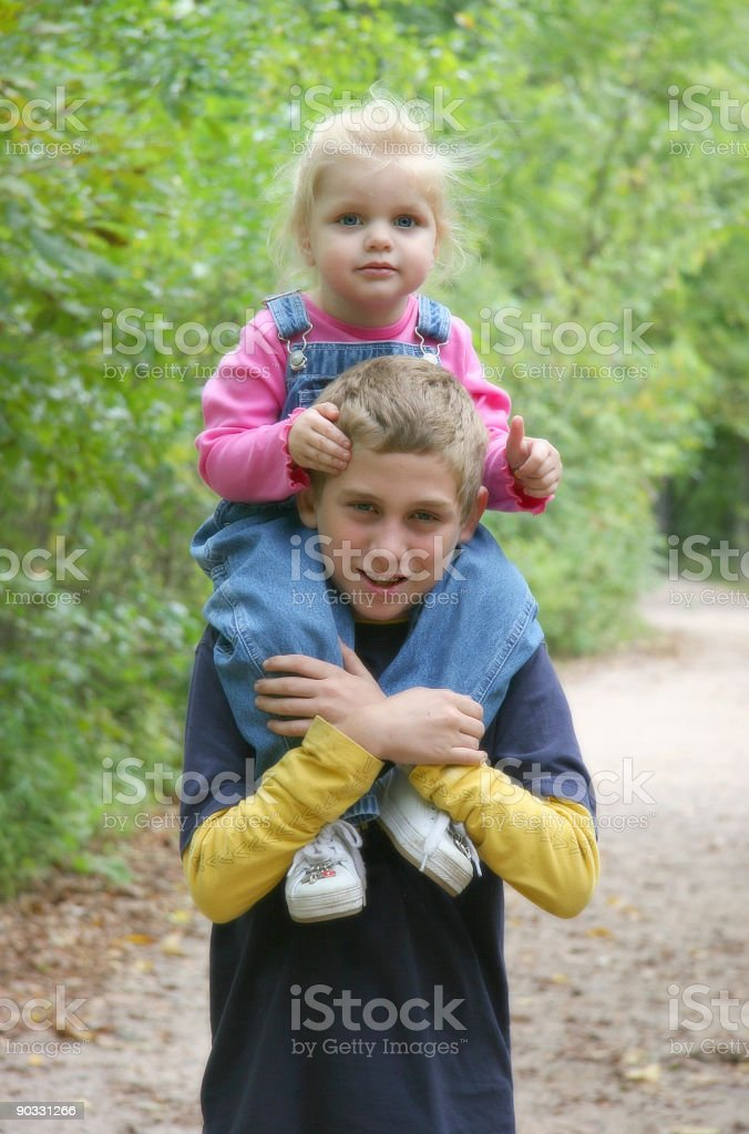Siblings stock photo