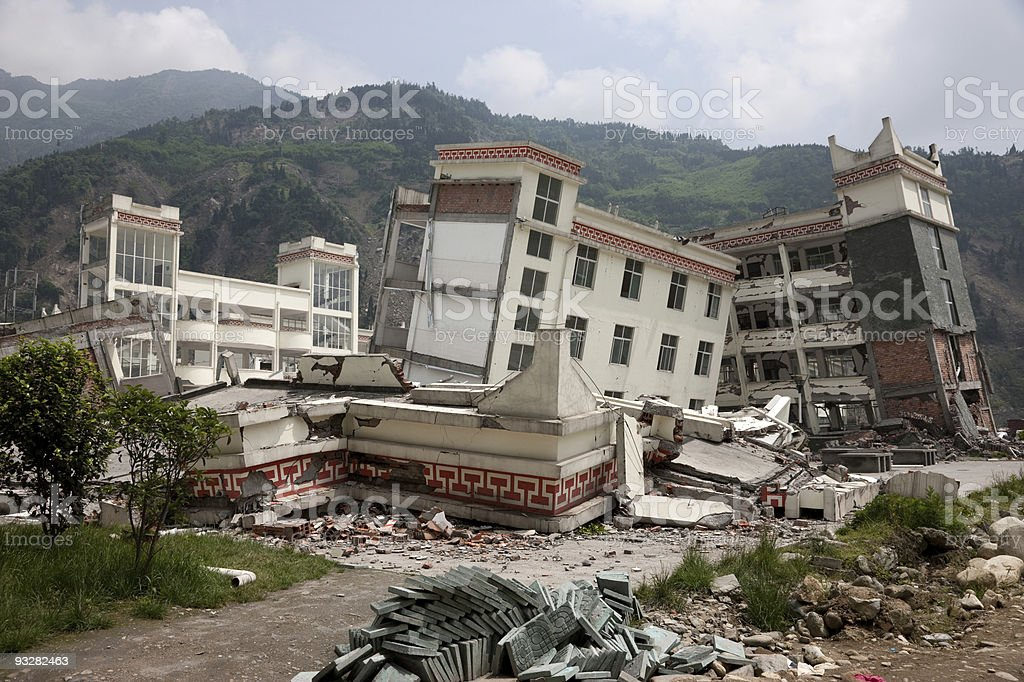 Sichuan earthquake – China royalty-free stock photo