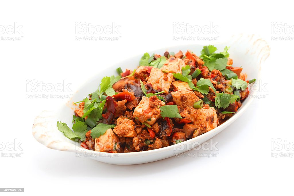 sichuan mapo tofu stock photo