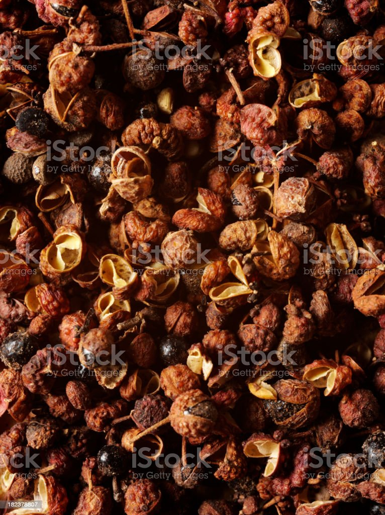 Sichuan Pepper Background stock photo