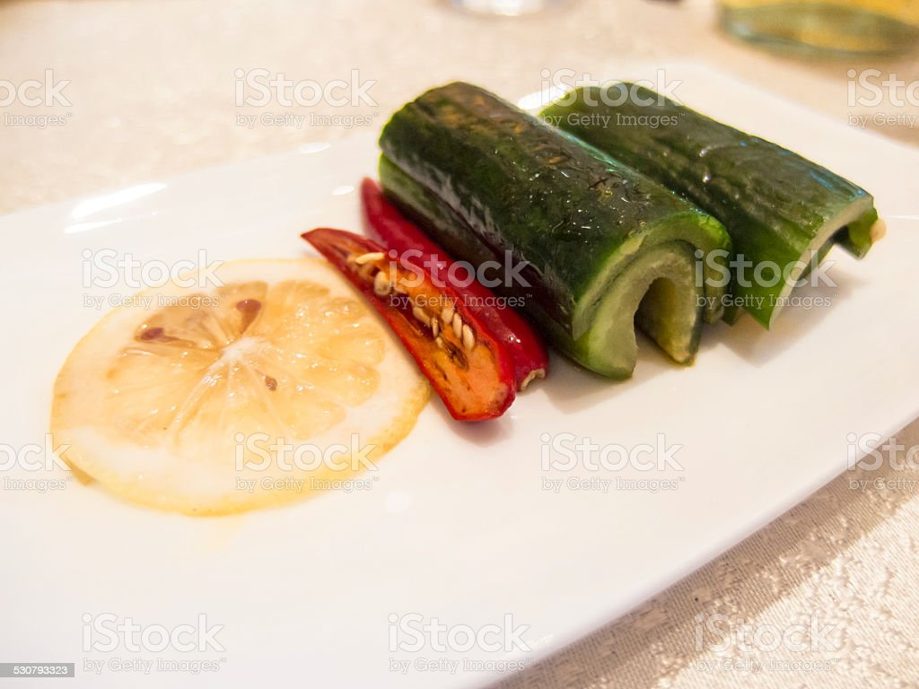 Sichuan pickles stock photo