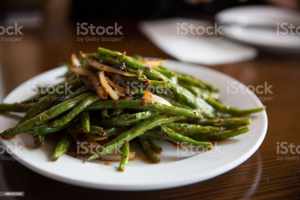 Sichuan Spicy Stringbeans stock photo
